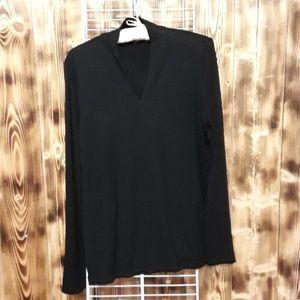 Talbot black long sleeve small top